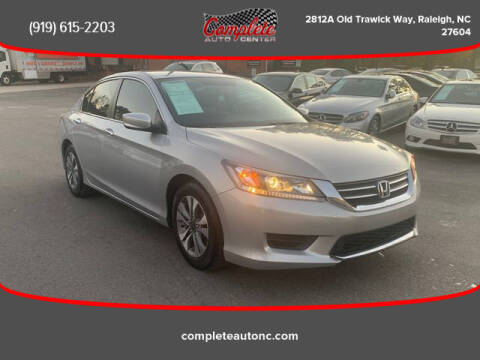 2013 Honda Accord for sale at Complete Auto Center , Inc in Raleigh NC