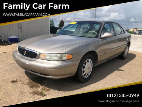 2002 Buick Century for sale at Family Car Farm in Princeton IN