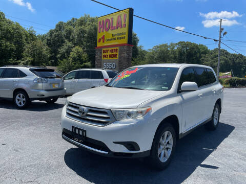 2012 Toyota Highlander for sale at No Full Coverage Auto Sales in Austell GA