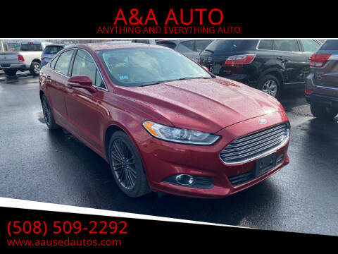 2015 Ford Fusion for sale at A&A AUTO in Fairhaven MA