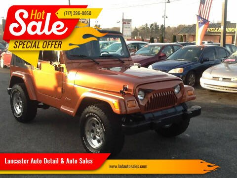 2000 Jeep Wrangler for sale at Lancaster Auto Detail & Auto Sales in Lancaster PA