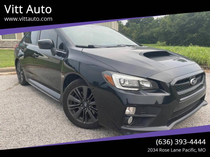 2015 Subaru WRX for sale at Vitt Auto in Pacific MO