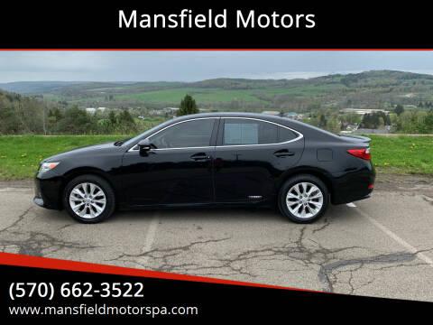 2013 Lexus ES 300h for sale at Mansfield Motors in Mansfield PA