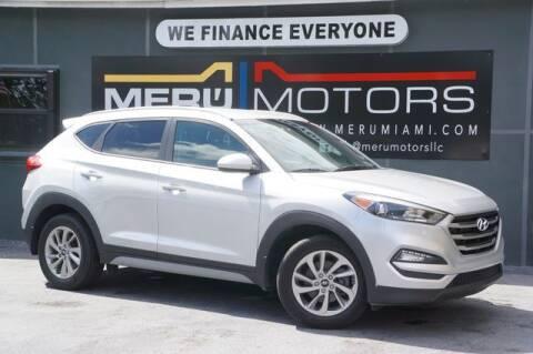 2018 Hyundai Tucson for sale at Meru Motors in Hollywood FL