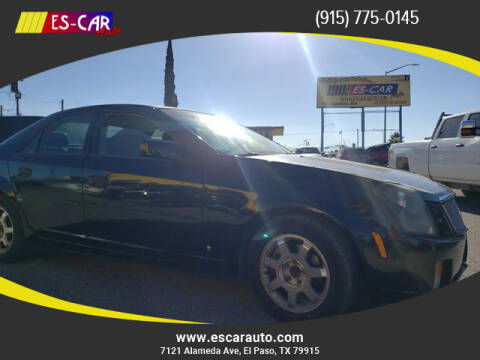 2007 Cadillac CTS for sale at Escar Auto in El Paso TX