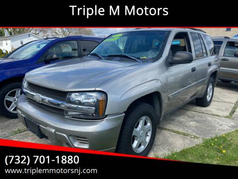 2002 Chevrolet TrailBlazer for sale at Triple M Motors in Point Pleasant NJ