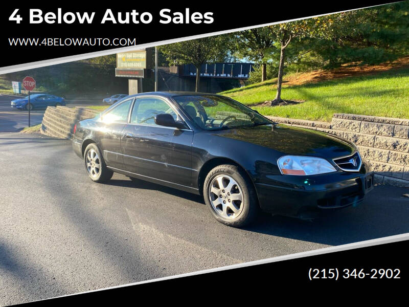 2001 Acura CL for sale at 4 Below Auto Sales in Willow Grove PA
