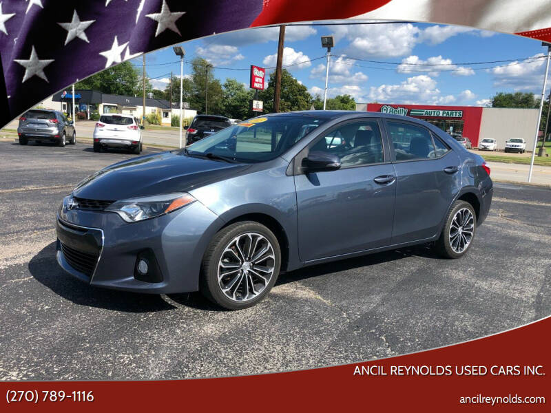 2015 Toyota Corolla for sale at Ancil Reynolds Used Cars Inc. in Campbellsville KY