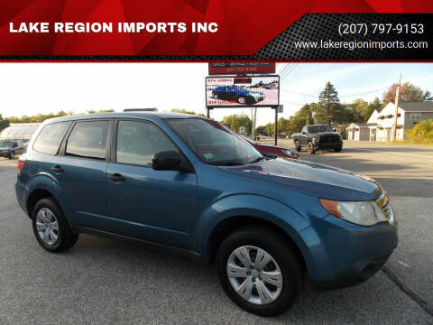 2010 Subaru Forester for sale at LAKE REGION IMPORTS INC in Westbrook ME