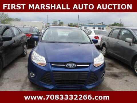 2012 Ford Focus for sale at First Marshall Auto Auction in Harvey IL