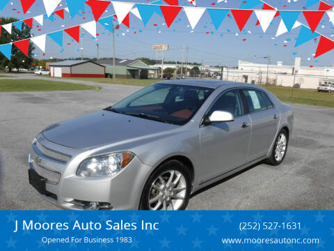 2009 Chevrolet Malibu for sale at J Moores Auto Sales Inc in Kinston NC
