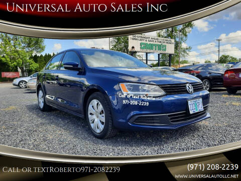 2012 Volkswagen Jetta for sale at Universal Auto Sales Inc in Salem OR