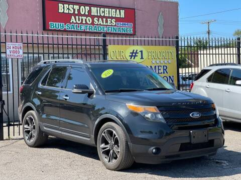 2013 Ford Explorer for sale at Best of Michigan Auto Sales in Detroit MI