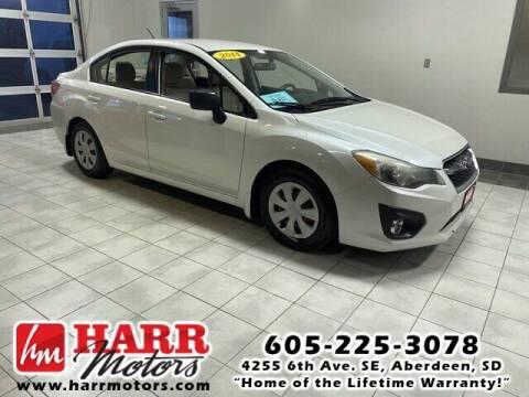 2014 Subaru Impreza for sale at Harr's Redfield Ford in Redfield SD