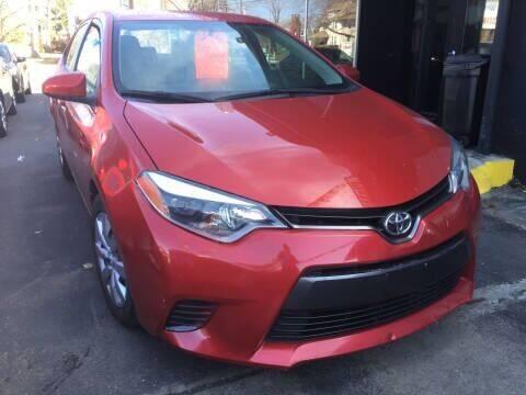 2016 Toyota Corolla for sale at MELILLO MOTORS INC in North Haven CT