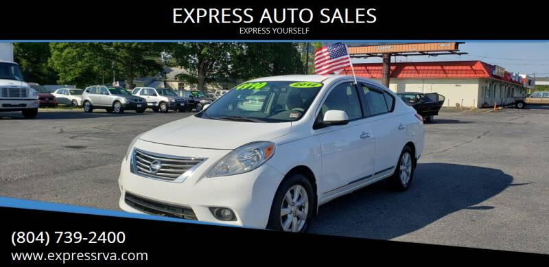 2012 Nissan Versa for sale at EXPRESS AUTO SALES in Midlothian VA