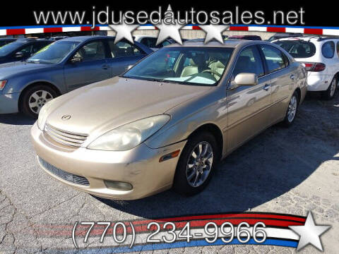 2002 Lexus ES 300 for sale at J D USED AUTO SALES INC in Doraville GA