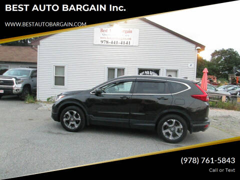 2018 Honda CR-V for sale at BEST AUTO BARGAIN inc. in Lowell MA