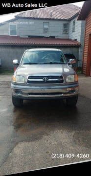 2002 Toyota Tundra for sale at WB Auto Sales LLC in Barnum MN
