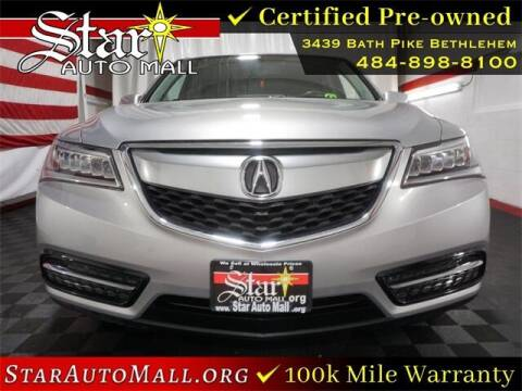 2015 Acura MDX for sale at STAR AUTO MALL 512 in Bethlehem PA