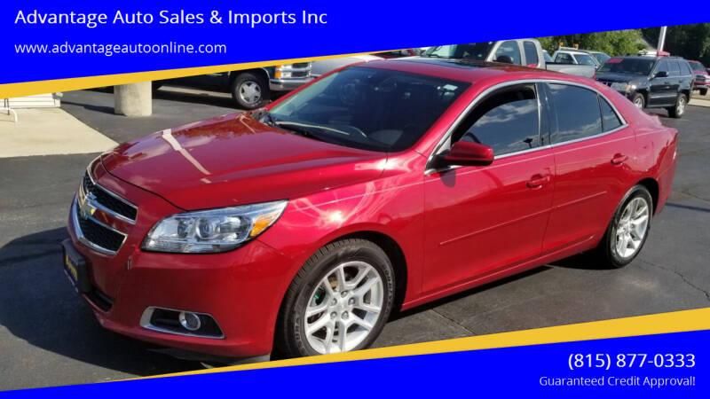 2013 Chevrolet Malibu for sale at Advantage Auto Sales & Imports Inc in Loves Park IL