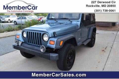 1997 Jeep Wrangler for sale at MemberCar in Rockville MD