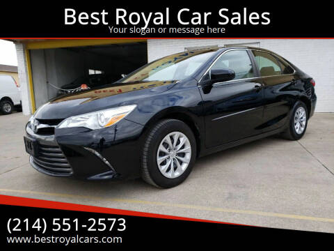 2015 Toyota Camry for sale at Best Royal Car Sales in Dallas TX