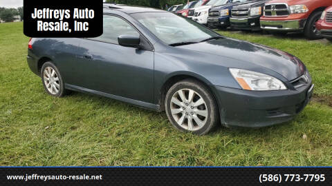 2006 Honda Accord for sale at Jeffreys Auto Resale, Inc in Clinton Township MI