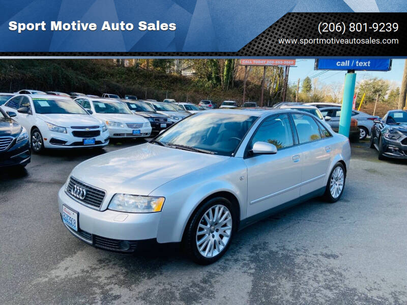 2002 Audi A4 for sale at Sport Motive Auto Sales in Seattle WA