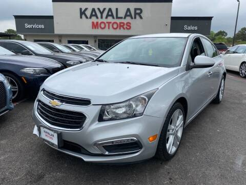 2015 Chevrolet Cruze for sale at KAYALAR MOTORS in Houston TX