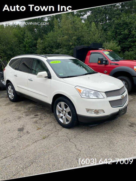 2012 Chevrolet Traverse for sale at Auto Town Inc in Brentwood NH