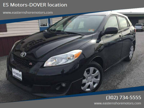 2009 Toyota Matrix for sale at ES Motors-DAGSBORO location - Dover in Dover DE