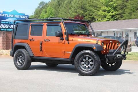 2011 Jeep Wrangler Unlimited for sale at Skyline Motors in Louisville TN
