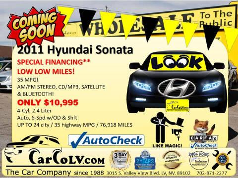 2011 Hyundai Sonata for sale at The Car Company in Las Vegas NV