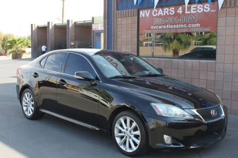 2009 Lexus IS 250 for sale at NV Cars 4 Less, Inc. in Las Vegas NV