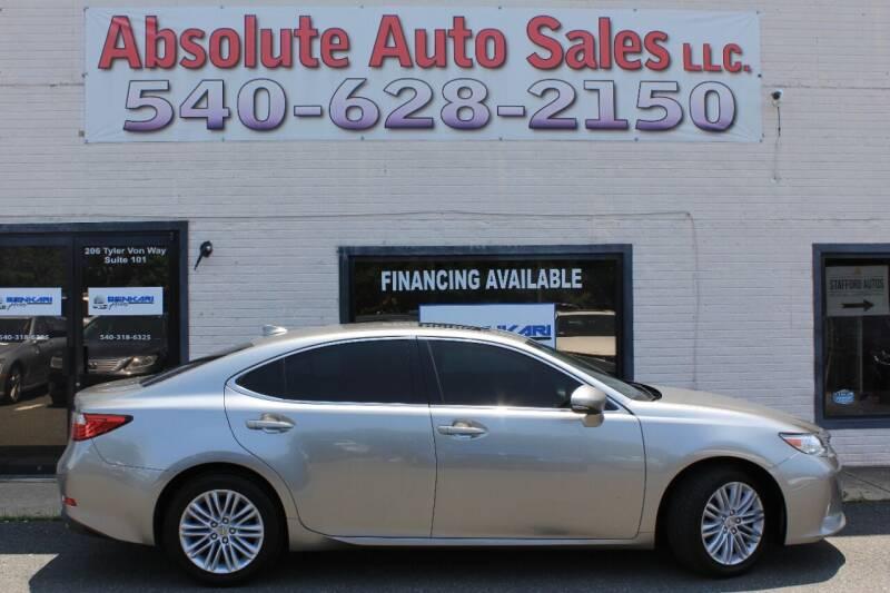 2015 Lexus ES 350 for sale at Absolute Auto Sales in Fredericksburg VA