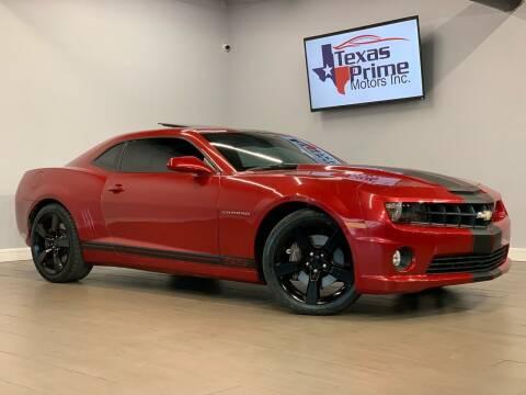 2013 Chevrolet Camaro for sale at Texas Prime Motors in Houston TX