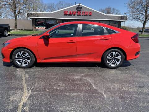 2017 Honda Civic for sale at Hawkins Motors Sales in Hillsdale MI