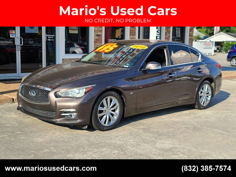 2014 Infiniti Q50 for sale at Mario's Used Cars - South Houston Location in South Houston TX