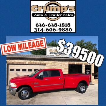 2014 RAM Ram Pickup 3500 for sale at CRUMP'S AUTO & TRAILER SALES in Crystal City MO