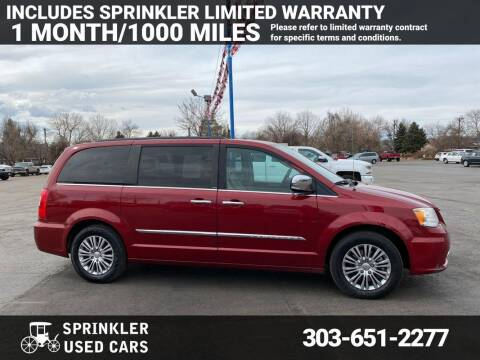 2013 Chrysler Town and Country for sale at Sprinkler Used Cars in Longmont CO