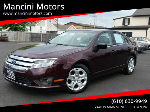 2011 Ford Fusion for sale at Mancini Motors in Norristown PA