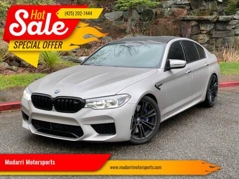 2018 BMW M5 for sale at Mudarri Motorsports in Kirkland WA