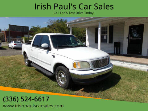 2001 Ford F-150 for sale at Irish Paul's Car Sales in Burlington NC