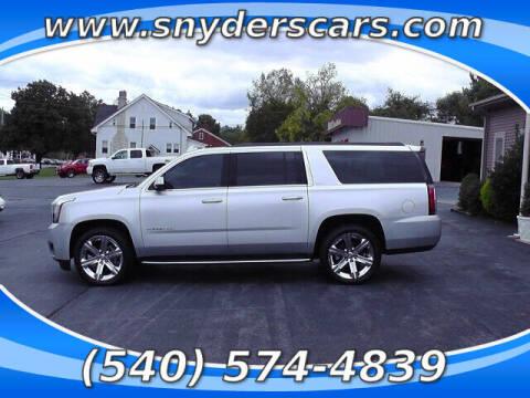 2016 GMC Yukon XL for sale at Snyders Auto Sales in Harrisonburg VA
