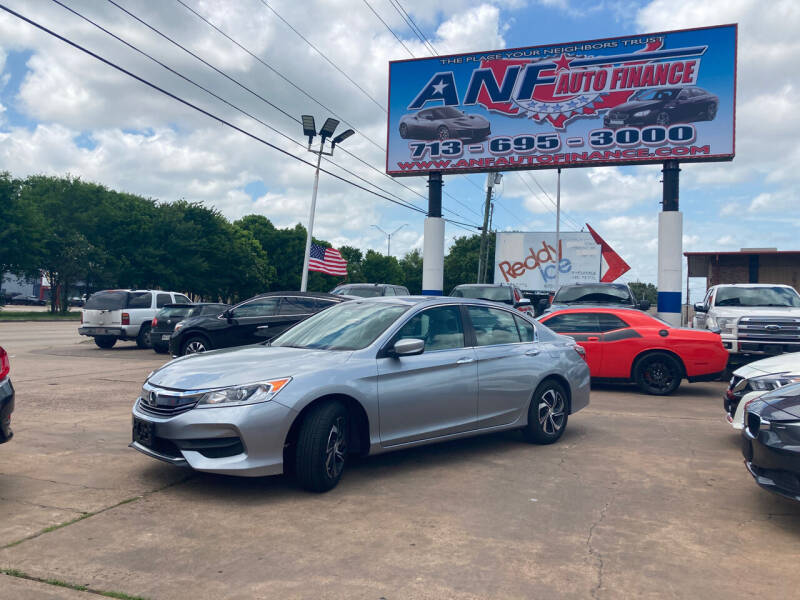 2017 Honda Accord for sale at ANF AUTO FINANCE in Houston TX
