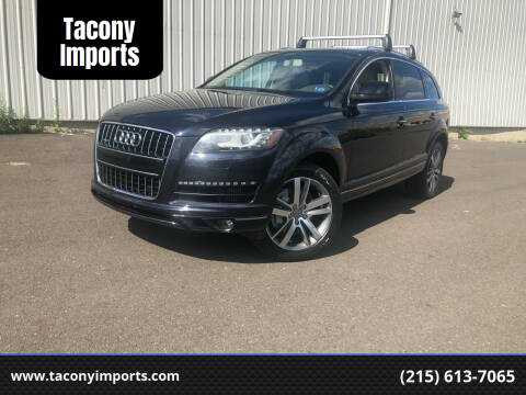 2012 Audi Q7 for sale at Tacony Imports in Philadelphia PA