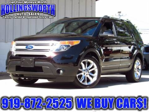 2013 Ford Explorer for sale at Hollingsworth Auto Sales in Raleigh NC