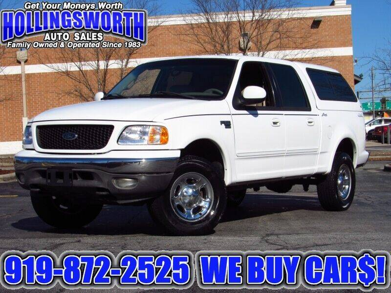 2002 Ford F-150 for sale at Hollingsworth Auto Sales in Raleigh NC