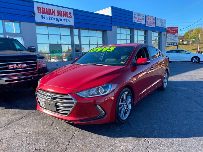 2017 Hyundai Elantra for sale at Brian Jones Motorsports Inc in Danville VA